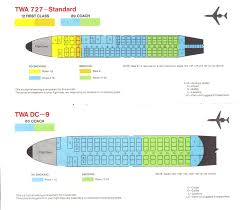 Air Canada Flight Map by Airlines Past U0026 Present Twa Seat Guide Map