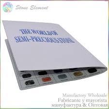 wholesale semi precious stone name material color card 100
