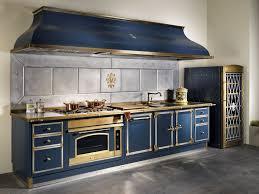 metal kitchen furniture metal kitchen blue by officine gullo
