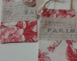 Shabby Chic Gift Bags by Toile Bag Etsy