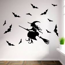 halloween wall art decals color the walls of your house halloween wall art decals new 2015 halloween witch wall stickers diy home decor decals poster