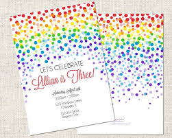 best 25 rainbow invitations ideas on pinterest rainbow birthday
