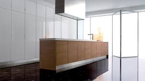 modern kitchen design with wooden kitchen island with granite of