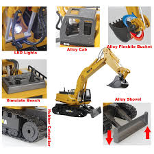 amazon com fistone rc excavator 11ch 2 4g alloy bulldozer crawler