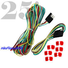 25ft 4 way trailer wiring connection kit flat wire extension