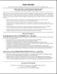 Law Enforcement Resume Samples by Federal Law Enforcement Resume Sample Free Samples Examples