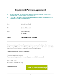equipment purchase agreement sample fill online printable