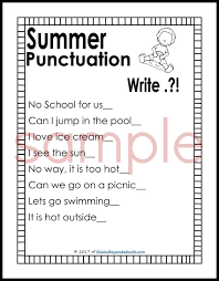 free punctuation worksheets summer edition blessed beyond a doubt