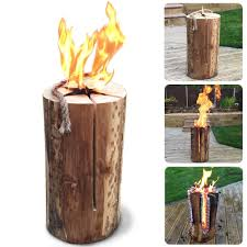 Fire Pit Logs by 50cm Kiln Dried Swedish Candle Fire Pit Log Easy Light Summer
