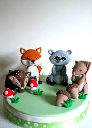 squirrel cake topper animal cake toppers like this item woodland fox raccoon deer