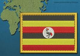 Images Of Uganda Flag Uganda Rectangle Flag Embroidery Design With A Gold Border