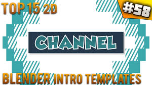 2d intro templates for blender top 15 blender 2d intro templates 58 free download youtube
