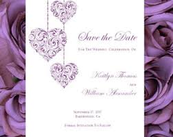 make your own save the date purple save the date etsy