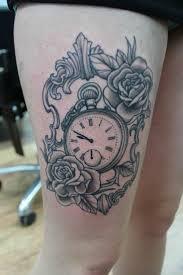 thigh tattoo sketches 28 best pocket watch tattoo designs images on pinterest pocket