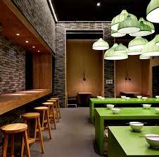 restaurant decorations minimalistic asian restaurant with fresh green elements interiorzine