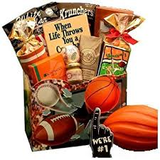 sports gift baskets all sports themed gourmet gift box great gift