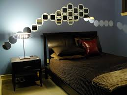 metal ceiling fan masculine bedroom decorating some plants in the