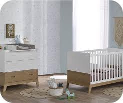 chambre bébé blanc mini chambre bébé aloa blanche et bois