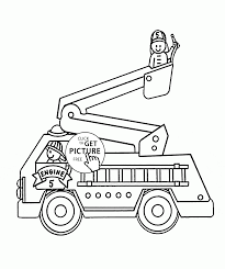 fire truck coloring page by fire truck coloring pages for kids