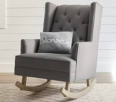 Gray Rocking Chair Upholstered Chairs Glider Chairs Nursing Chairs U0026 Ottomans