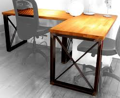 industrial steel frame butcherblock wood desk album on imgur build video https youtu be lqudwz3 cmk it s been a few years since i ve done any serious metal working projects so it s great to be back the legs are
