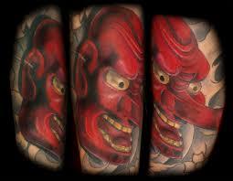 tengu mask tattoo by johnny jackson tattoonow
