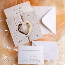 wedding invitations gold and white gold and white heart folded wedding invitations iwzd01