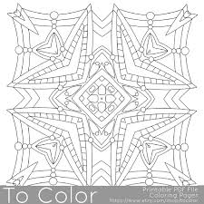 printable square mandala coloring pages for adults mandala