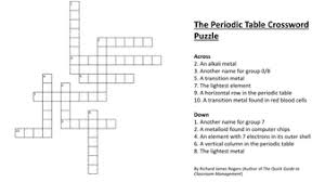 periodic table puzzle worksheet answers the periodic table crossword puzzle complete with answers by