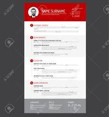 Resume Vector Vector Minimalist Cv Resume Template Royalty Free Cliparts