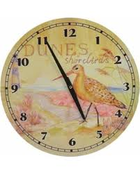 themed clock amazing deal on themed hanging wall clock dunes shorebirds