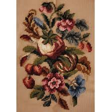 floral spray vintage needlepoint canvas floral spray design superbia madeira