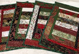 stunning quilted christmas placemats set of 4 christmas