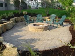 Paver Patios With Fire Pit by Groundwrx Landscape U0026 Hardscape Design Maple Grove Mn