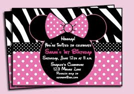 nice minnie mouse birthday invitations printable get more