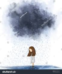 painting heart broken standing under stock illustration