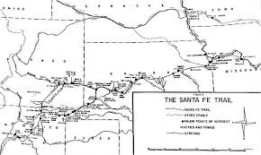 mileage map map of the santa fe trail and mileage information