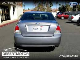 2007 ford fusion s 2007 ford fusion s desert motor