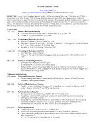 teacher resume objective statement examples math teacher resume
