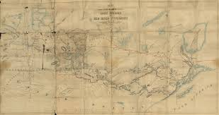 Map Of Lake Superior File Map Shewing Line Of Route Between Lake Superior And Red River