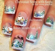 nail art tutorial diy winter wonderland nails christmas nail