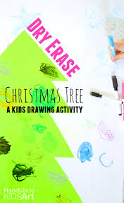 easy christmas activity for kids dry erase christmas tree kids