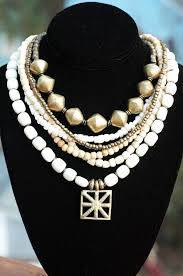 statement necklace white images Statement necklace bone white brass multi strand xo gallery jpg