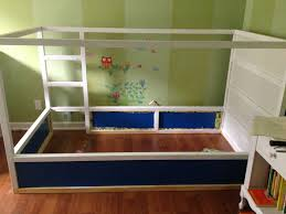 our finished ikea kura bed hack