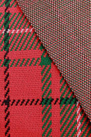 christmas pattern knit fabric 80s vintage poly double knit fabric christmas tartan plaid calico