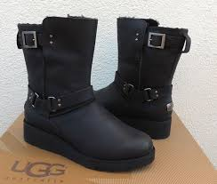 s ugg australia black boots s ugg black leather boots mount mercy