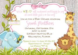 despedida invitation rustic jungle baby shower invitation baby lion giraffe