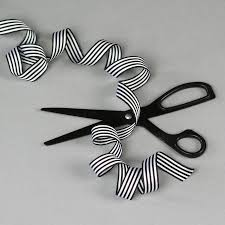 black and white striped ribbon candy christmas wrapping paper by nancy betty studio black