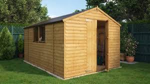 loglap windowed garden shed project timber