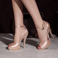 wedding shoes ankle satin peep toe ankle platform wedding shoes for brides